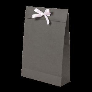 Premium Kraft – Kraft Cinza – Sacola envelope com alça – M