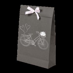 Premium Kraft – Cinza Bicicleta – Sacola envelope com alça – M