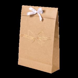 Premium Kraft – Natural Laço – Sacola envelope com alça – M