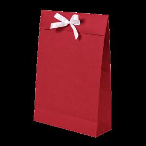Premium Kraft – Kraft Vermelho – Sacola envelope com alça – M