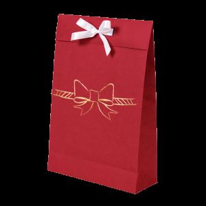 Premium Kraft – Vermelho Laço – Sacola envelope com alça – M