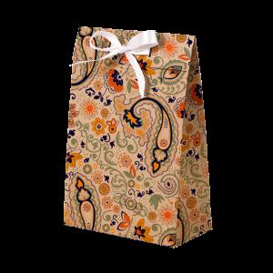 Premium Kraft – Floral Rústico – Sacola envelope com alça – P