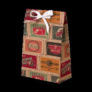 Premium Kraft – Placas Vintage – Sacola envelope com alça – P