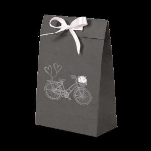 Premium Kraft – Cinza Bicicleta – Sacola envelope com alça – P