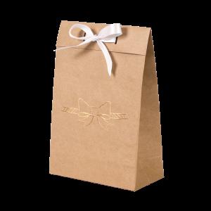 Premium Kraft – Natural Laço – Sacola envelope com alça – P