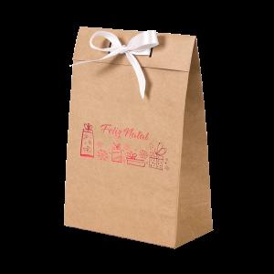 Premium Kraft – Natural Natal – Sacola envelope com alça – P