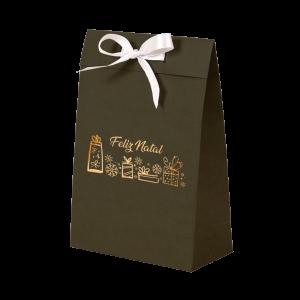 Premium Kraft – Verde Natal – Sacola envelope com alça – P