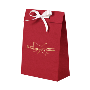 Premium Kraft – Vermelho Laço – Sacola envelope com alça – P