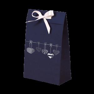 Premium Kraft – Azul Coração – Sacola envelope com alça – PP