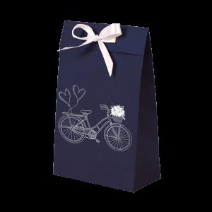 Premium Kraft – Azul Bicicleta – Sacola envelope com alça – PP