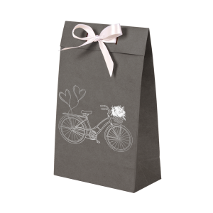 Premium Kraft – Cinza Bicicleta – Sacola envelope com alça – PP