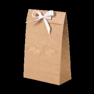 Premium Kraft – Natural Laço – Sacola envelope com alça – PP