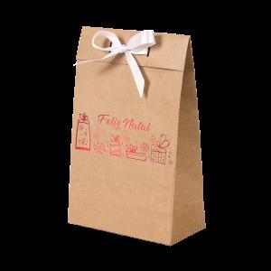 Premium Kraft – Natural Natal – Sacola envelope com alça – PP