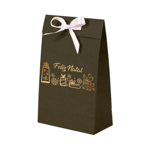 Premium Kraft – Verde Natal – Sacola envelope com alça – PP