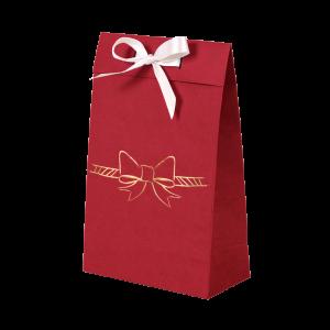 Premium Kraft – Vermelho Laço – Sacola envelope com alça – PP
