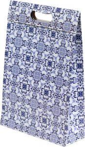 Sacola presenteável com aba – M – Azulejo Português