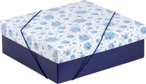 Caixa – M – Rosas Azuis