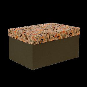 Premium Kraft – Floral Rústico – Caixa T/F montável semirrígida – G