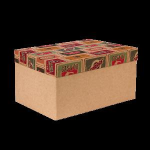 Premium Kraft – Placas Vintage – Caixa T/F montável semirrígida – G