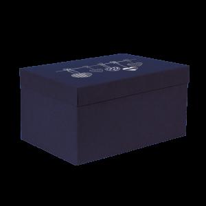 Premium Kraft – Azul Coração – Caixa T/F montável semirrígida – G