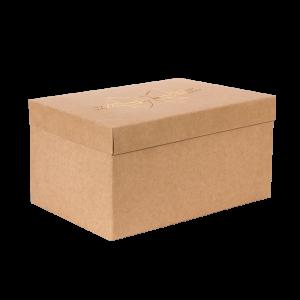 Premium Kraft – Natural Laço – Caixa T/F montável semirrígida – G