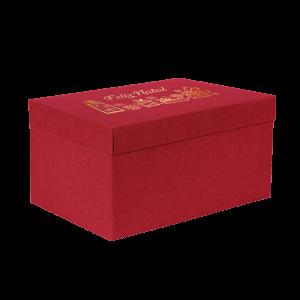 Premium Kraft – Vermelho Natal – Caixa T/F montável semirrígida – G