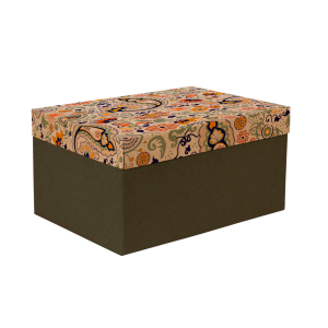 Premium Kraft – Floral Rústico – Caixa T/F montável semirrígida – M