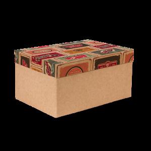 Premium Kraft – Placas Vintage – Caixa T/F montável semirrígida – M