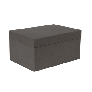 Premium Kraft – Kraft Cinza – Caixa T/F montável semirrígida – M