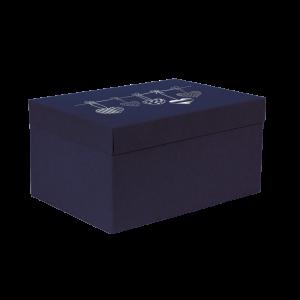 Premium Kraft – Azul Coração – Caixa T/F montável semirrígida – M