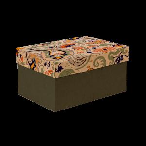 Premium Kraft – Floral Rústico – Caixa T/F montável semirrígida – P