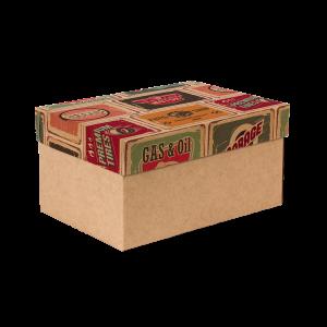 Premium Kraft – Placas Vintage – Caixa T/F montável semirrígida – P