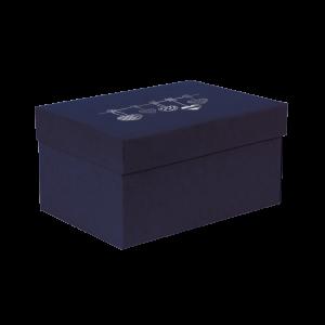 Premium Kraft – Azul Coração – Caixa T/F montável semirrígida – P