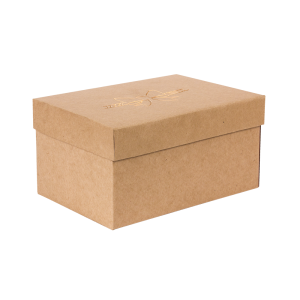 Premium Kraft – Natural Laço – Caixa T/F montável semirrígida – P