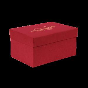 Premium Kraft – Vermelho Laço – Caixa T/F montável semirrígida – P
