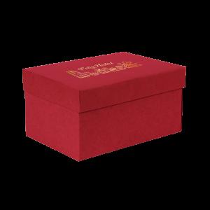 Premium Kraft – Vermelho Natal – Caixa T/F montável semirrígida – P