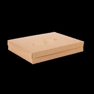 Premium Kraft – Natural Laço – Caixa tampa e fundo – G