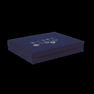 Premium Kraft – Azul Coração – Caixa tampa e fundo – G