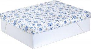 Caixa – G Retangular – Rosas Azuis