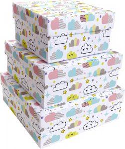 Kit Caixas Rígidas – Quadrado – Nuvem