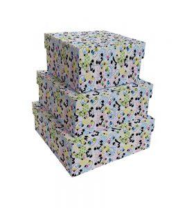 Kit Caixas Rígidas – Quadrado – Panda