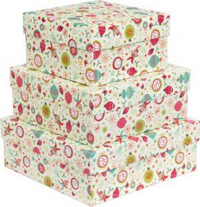 Kit Caixas Rígidas – Quadrado – Natal Encanto